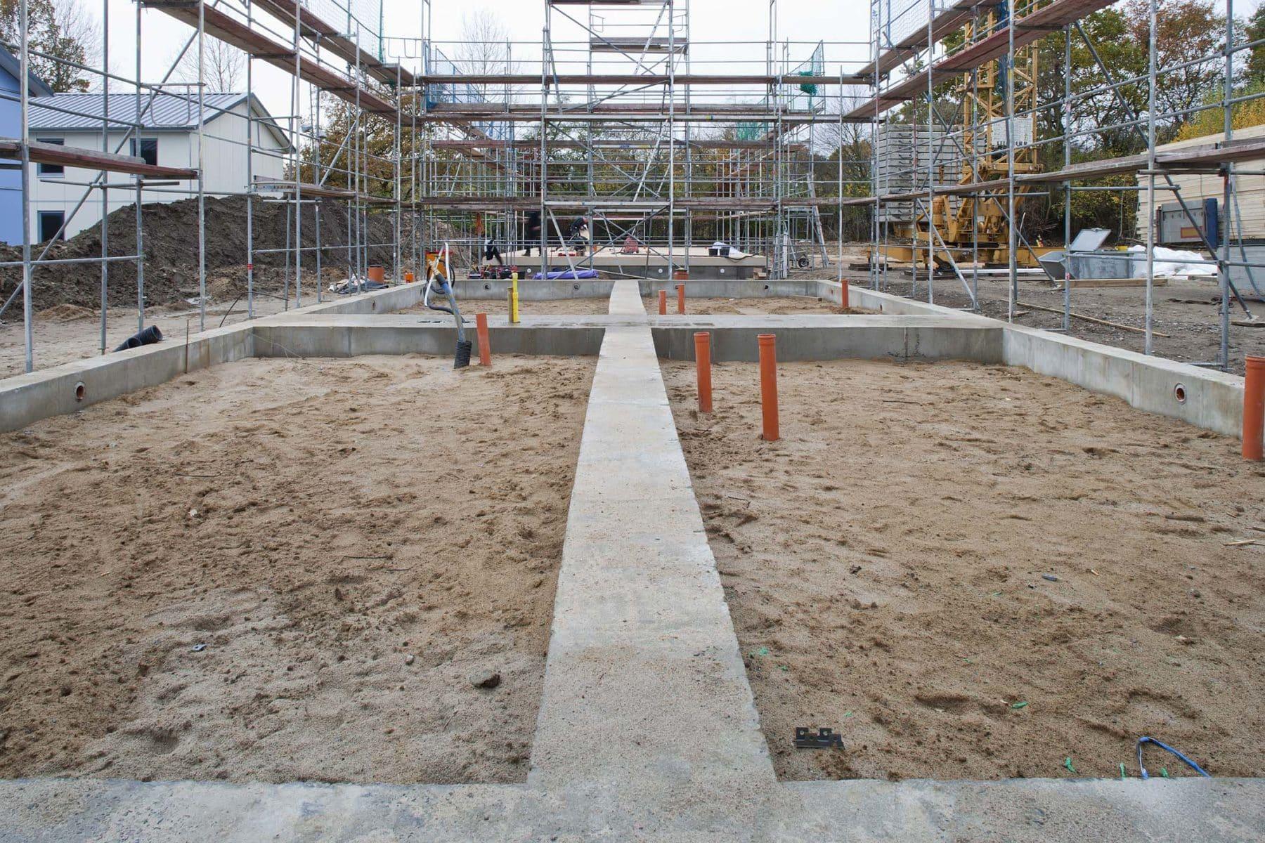 Streifenfundament - Bildquelle: Brüggemann Holzbau GmbH & Co. KG